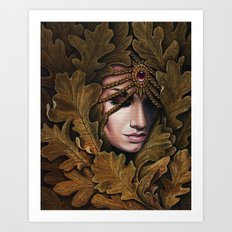 Mabon - goddess of fall Art Print
