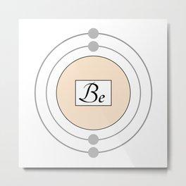 Beryllium - Bohr Model Metal Print