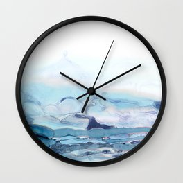 Indigo Abstract Painting | No.6 Wall Clock