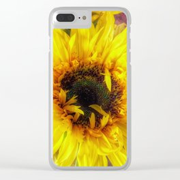 Sunflower and Ribbons Clear iPhone Case