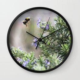 bumble bee flight Wall Clock
