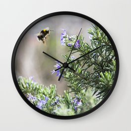 bumble bee flight Wall Clock