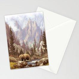 Grizzly Bear Landscape Stationery Cards