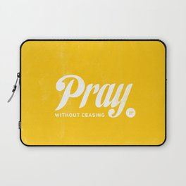 Pray Without Ceasing Laptop Sleeve