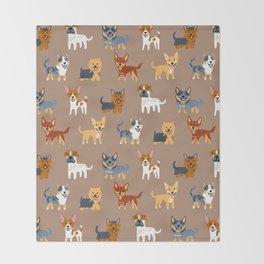 AUSSIE DOGS Throw Blanket