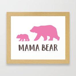 Mother's Day, Mamma Bear, Bear Cub - Pink Brown Framed Art Print