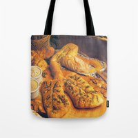 bread Tote Bags featuring Bread by Richard McGee