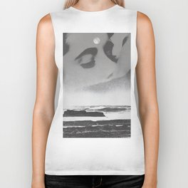 Ghost Waves Biker Tank
