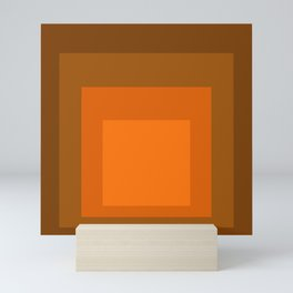 Block Colors - Orange Mini Art Print