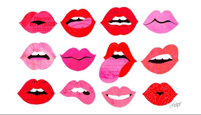 Lips of Love Pillow Sham