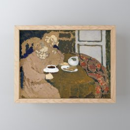 Edouard Vuillard - Two Women Drinking Coffee - Digital Remastered Edition Framed Mini Art Print