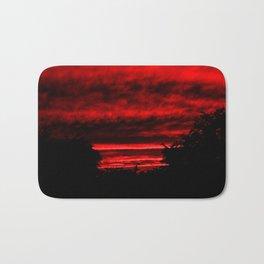 Sunset in Red Bath Mat