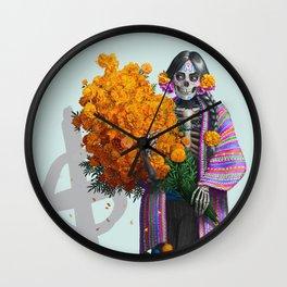 Catrina en Xochimilco Wall Clock