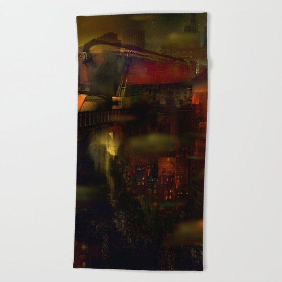 Train de nuit Beach Towel