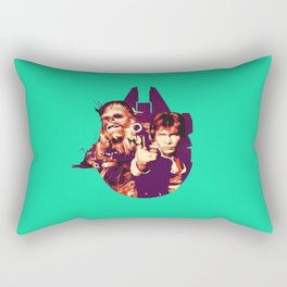 Han Solo & Chewbacca Rectangular Pillow
