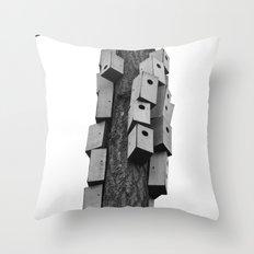 cozy neighborhood Throw Pillow