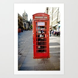 red phone box Art Print