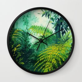 Rainforest Lights and Shadows Wall Clock
