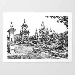 Country Club Plaza Art Print