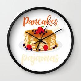 Pancakes and Pajamas Sleeping Bakery Sweets Design Wall Clock