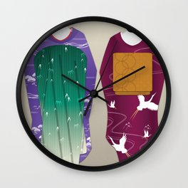 Geisha Maiko Winter Wall Clock