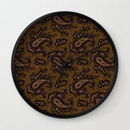 Ramona Paisley - Dark Bronze Wall Clock