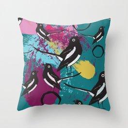 Magpie splash Throw Pillow