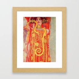 "Gustav Klimt ""University of Vienna Ceiling Paintings (Medicine), detail showing Hygieia"" Framed Art Print"