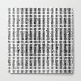 Black and white Hand-drawn Stick Pattern Metal Print