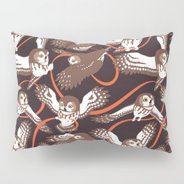 Owls with Ribbon Pillow Sham
