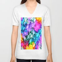 indie V-neck T-shirts featuring Indie Chic by Claire Day