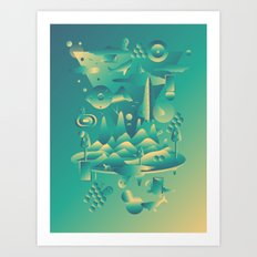 Geometromorphic Dream Art Print