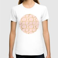 gold foil T-shirts featuring Pink Gold Foil 01 by Aloke Design