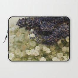 Lavender on gypsophila Laptop Sleeve