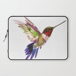 Hummingbird artwork, flying hummingbird Laptop Sleeve