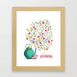 Beau-tea-ful Life Illustration Framed Art Print