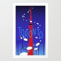 toronto Art Prints featuring Toronto by Maygen Kerrigan