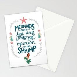 Let Mermaids Merm Stationery Cards