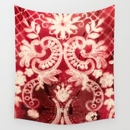 Mother's Lace, reds Wall Tapestry