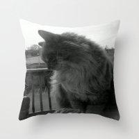 garfield Throw Pillows featuring Garfield by Jessica Nicole Pacheco