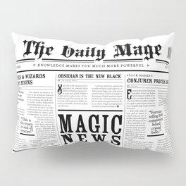 The Daily Mage Fantasy Newspaper Pillow Sham