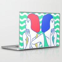 girls Laptop & iPad Skins featuring Girls by afrancesado