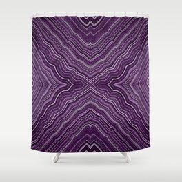 Abstract #9 - IX - Purple Shower Curtain