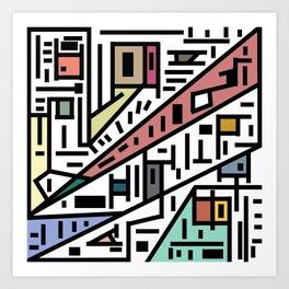 Urban Connections Of Vanity Art Print