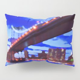 New York City Skyline Bridge Pillow Sham
