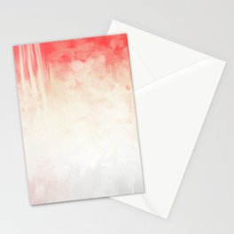 Coral and Ecru Modern Abstract Stationery Cards