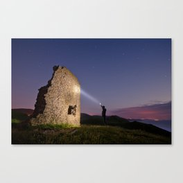 Exploring in the night Canvas Print