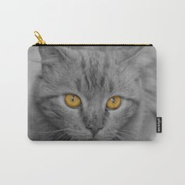 Gray Kitten with Yellow Eyes Carry-All Pouch