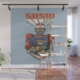 Super Sushi Robot Wall Mural