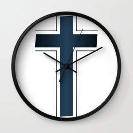 Isolated Christian Crucifix Wall Clock